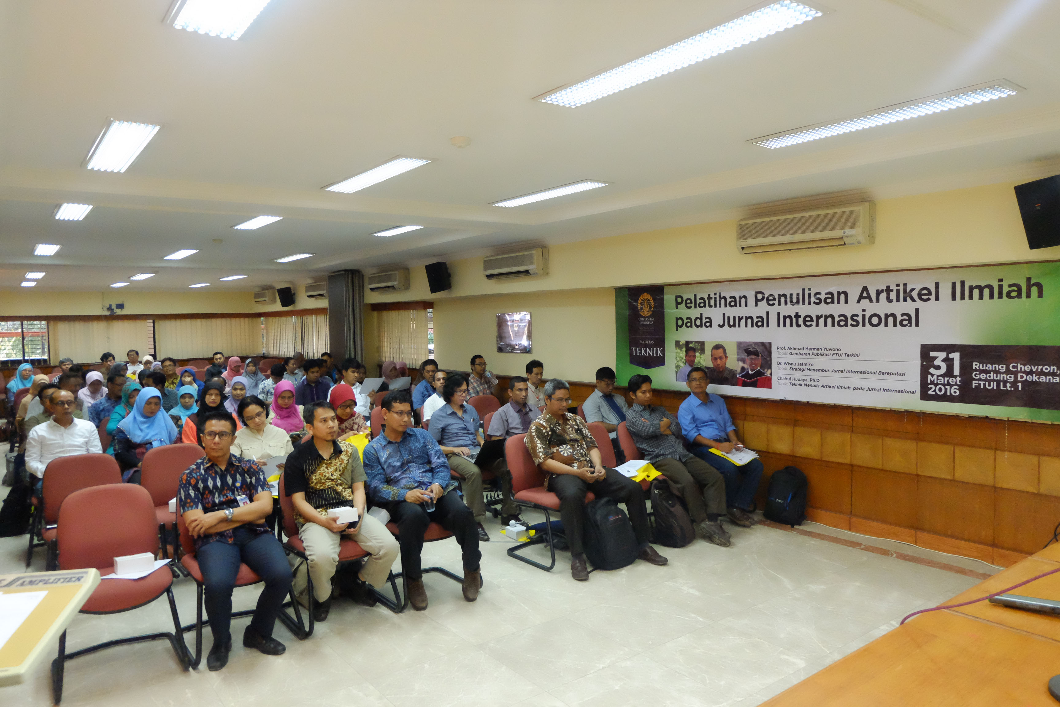 Workshop Pelatihan Penulisan Artikel Ilmiah Pada Jurnal Internasional Fakultas Teknik Universitas Indonesia
