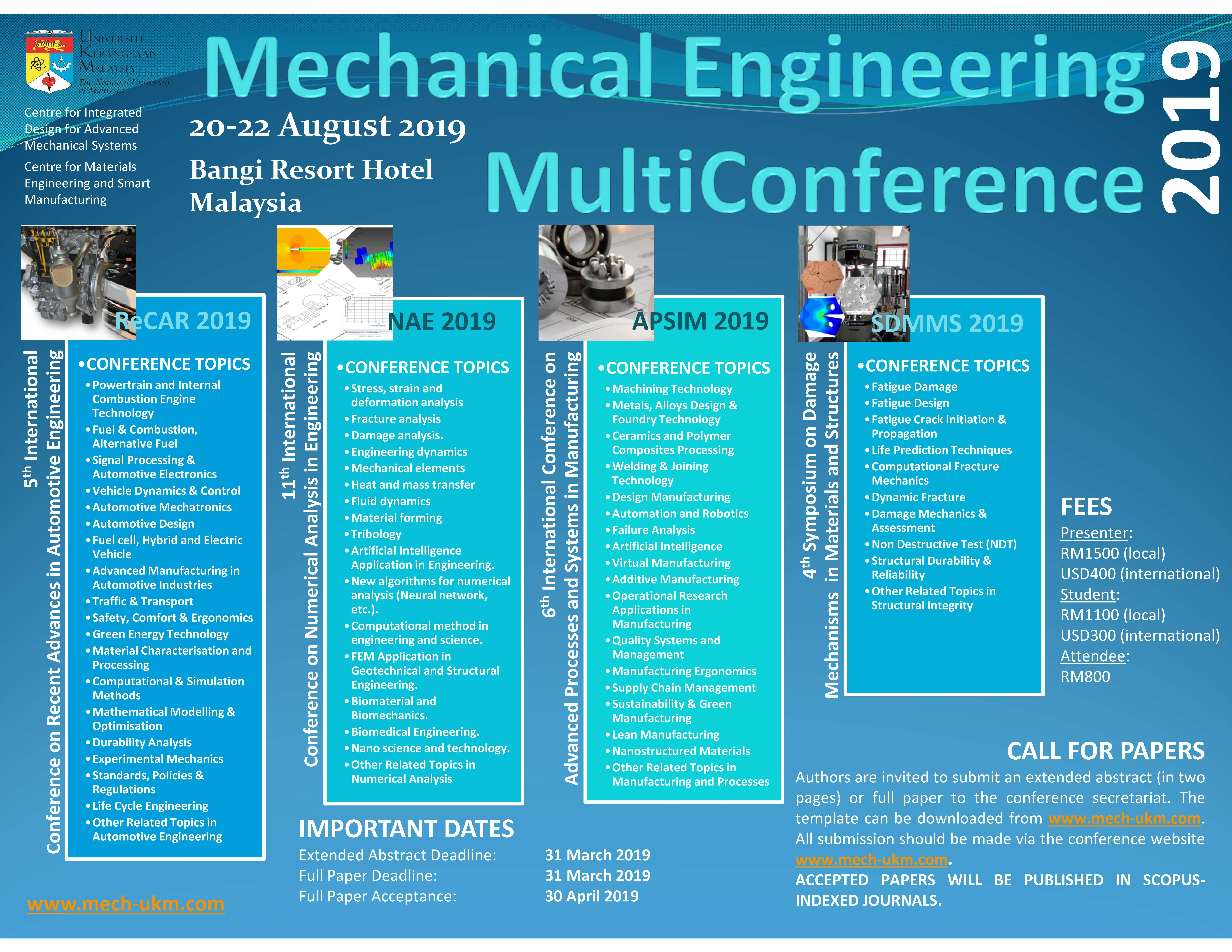 Mechanical Engineering Multi-Conference 2019 – Fakultas