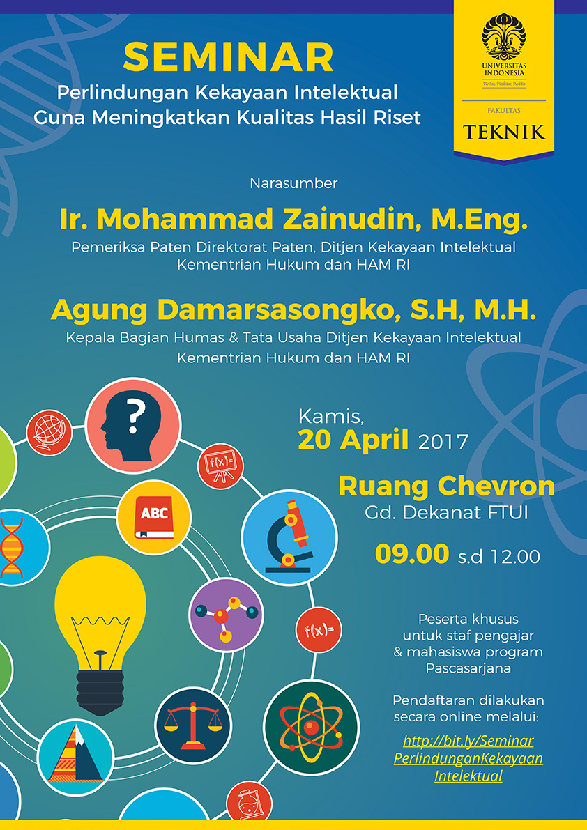 Seminar Perlindungan Kekayaan Intelektual Guna Meningkatkan Kualitas Hasil Riset