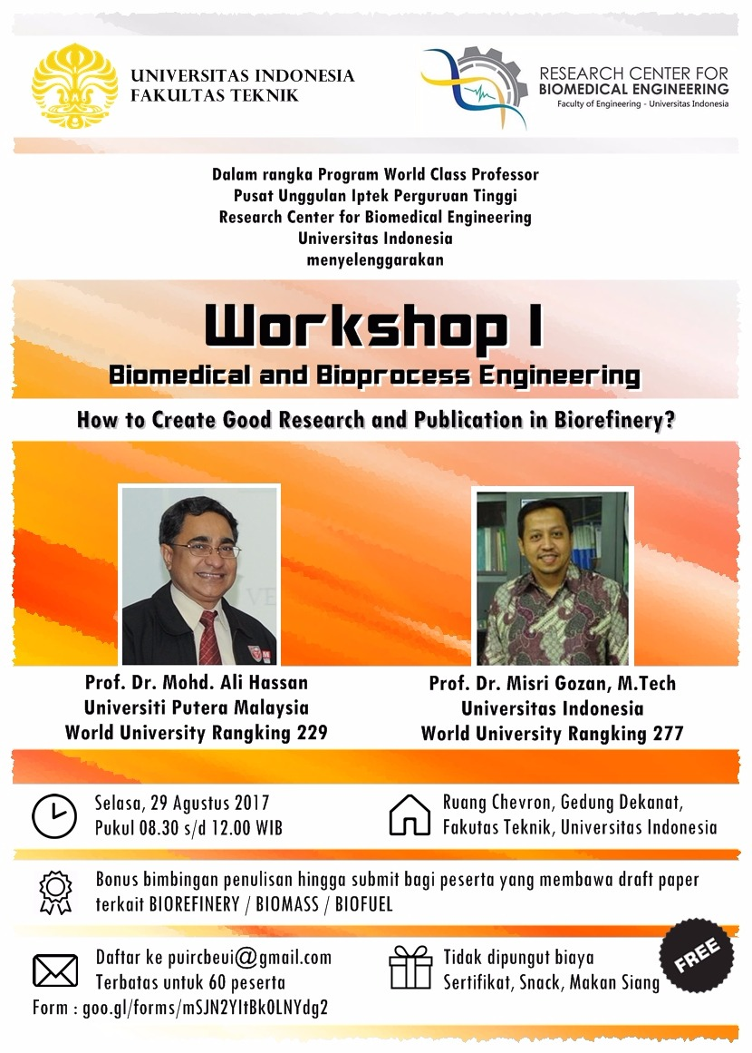 workshop biomedical and bioprocess engineering universitas indonesia